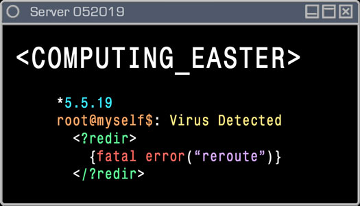 Logo - Computing Easter - 5.5.19 - Virus Detected