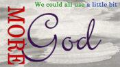 Logo - MORE God